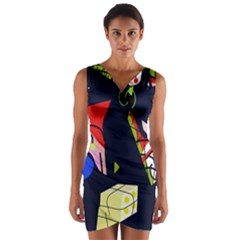 Gift Wrap Front Bodycon Dress