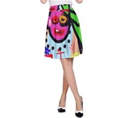 Quarreling A-Line Skirt