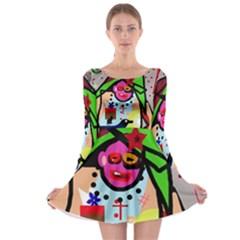 Quarreling Long Sleeve Skater Dress