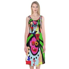Quarreling Midi Sleeveless Dress