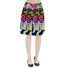 Quarreling Pleated Skirt