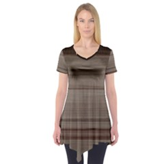 Wooden Stripes Short Sleeve Tunic