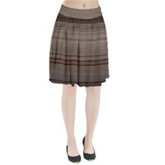 Wooden Stripes Pleated Skirt