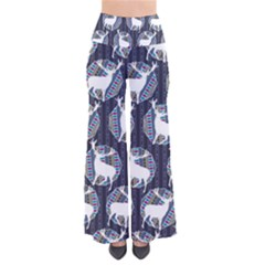 Geometric Deer Retro Pattern Women s Chic Palazzo Pants