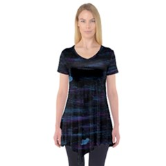 Blue moonlight Short Sleeve Tunic