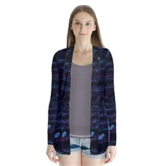 Blue moonlight Drape Collar Cardigan
