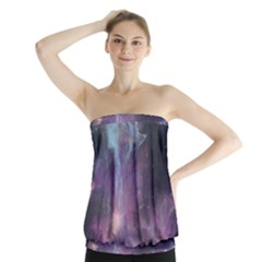 Blue Galaxy Strapless Top