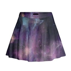Blue Galaxy Mini Flare Skirt