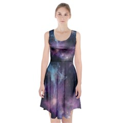 Blue Galaxy Racerback Midi Dress
