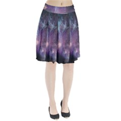 Blue Galaxy Pleated Skirt