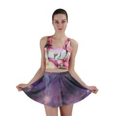 Blue Galaxy Mini Skirt