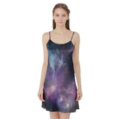 Blue Galaxy Satin Night Slip