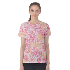 Pink and Yellow Floral Mum Women s Cotton Tee