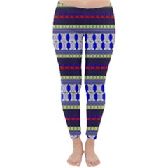 Colorful Retro Geometric Pattern Winter Leggings