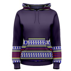 Colorful Retro Geometric Pattern Women s Pullover Hoodie