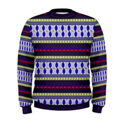 Colorful Retro Geometric Pattern Men s Sweatshirt