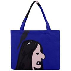 Girl and bird Mini Tote Bag
