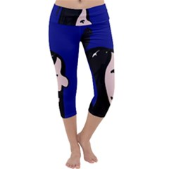 Girl and bird Capri Yoga Leggings