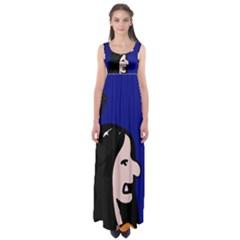 Girl and bird Empire Waist Maxi Dress