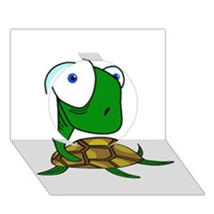 Turtle Circle 3D Greeting Card (7x5)