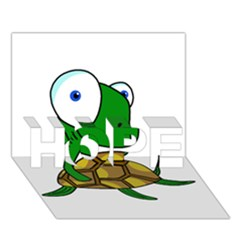 Turtle HOPE 3D Greeting Card (7x5)