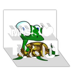 Turtle Miss You 3d Greeting Card (7x5)