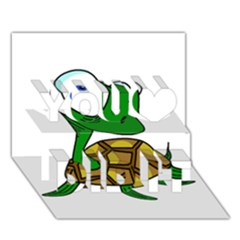 Turtle You Did It 3D Greeting Card (7x5)