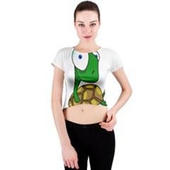 Turtle Crew Neck Crop Top