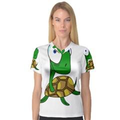 Turtle Women s V-Neck Sport Mesh Tee