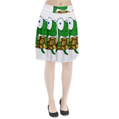 Turtle Pleated Skirt