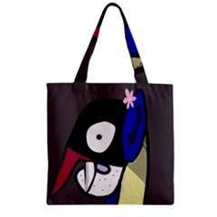 Monster Zipper Grocery Tote Bag