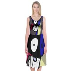 Monster Midi Sleeveless Dress