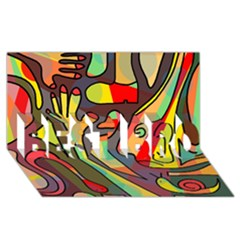 Colorful dream BEST BRO 3D Greeting Card (8x4)
