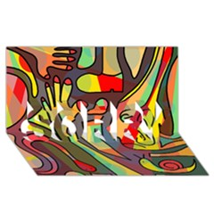 Colorful dream SORRY 3D Greeting Card (8x4)