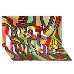 Colorful dream Best Wish 3D Greeting Card (8x4)