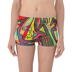 Colorful dream Reversible Boyleg Bikini Bottoms