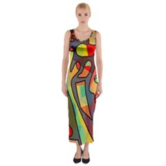 Colorful Dream Fitted Maxi Dress