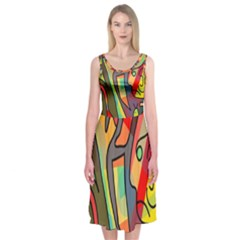 Colorful dream Midi Sleeveless Dress
