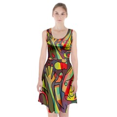 Colorful Dream Racerback Midi Dress