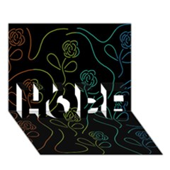 Floral pattern HOPE 3D Greeting Card (7x5)