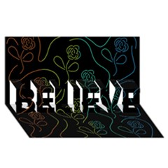 Floral pattern BELIEVE 3D Greeting Card (8x4)