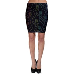 Floral pattern Bodycon Skirt