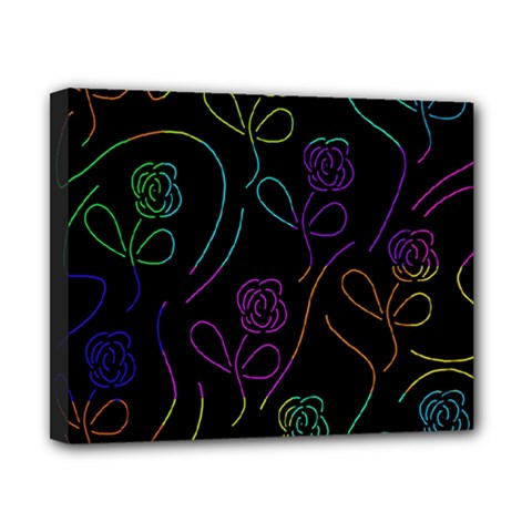 Flowers - pattern Canvas 10  x 8