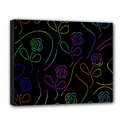 Flowers - pattern Deluxe Canvas 20  x 16