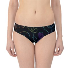 Flowers - pattern Hipster Bikini Bottoms