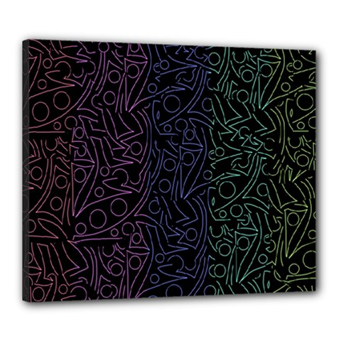 Colorful elegant pattern Canvas 24  x 20