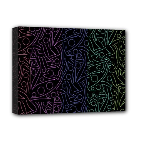 Colorful elegant pattern Deluxe Canvas 16  x 12