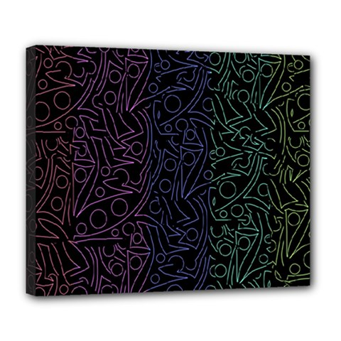 Colorful elegant pattern Deluxe Canvas 24  x 20