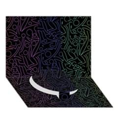 Colorful elegant pattern Circle Bottom 3D Greeting Card (7x5)