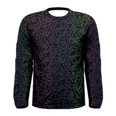 Colorful elegant pattern Men s Long Sleeve Tee